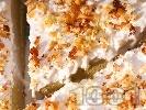 Рецепта Солена спаначена торта без месо с извара, орехи, сметана и желатин